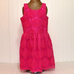 GIrls GUESS Pink Floral Embroidered Dress